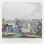 Alejandro I y Napoleon Calcomania Cuadradas