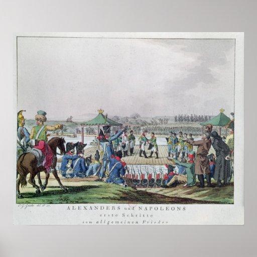 Alejandro I y Napoleon Posters