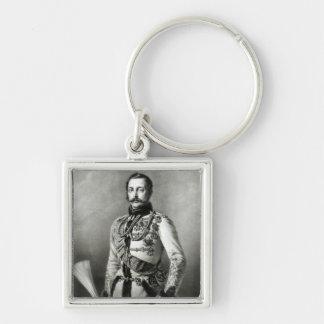 Alejandro II de Rusia Llavero Cuadrado Plateado
