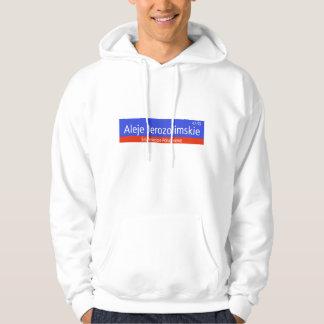 Aleje Jerozolimskie, Warsaw, Polish Street Sign Sweatshirt