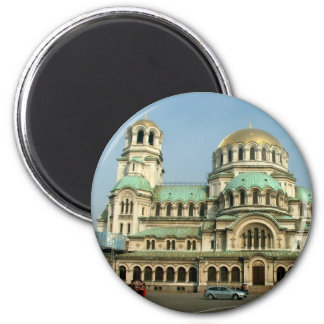 Aleksander Nevsky Cathedral 2 Inch Round Magnet