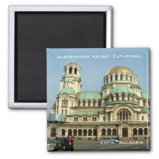 Aleksander Nevsky Cathedral 2 Inch Square Magnet