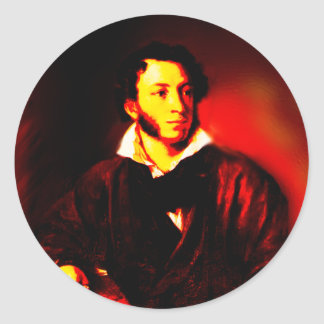 Aleksandr Pushkin Classic Round Sticker