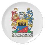 Aleksandrov Family Crest Dinner Plate