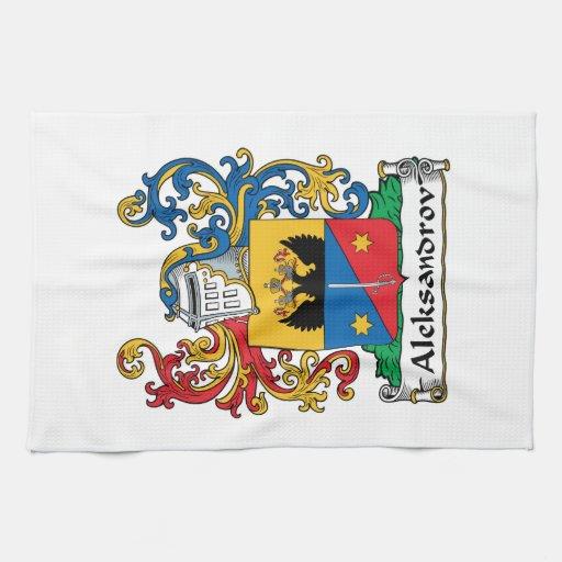 Aleksandrov Family Crest Kitchen Towels