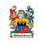Aleksandrov Family Crest Post Cards