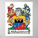 Aleksandrov Family Crest Poster