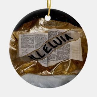Aleluya (biblia y marco) adornos de navidad