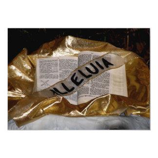 """Aleluya (biblia y marco) invitación 5"""" x 7"""""""