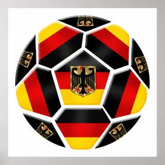 Alemán 2014 de la fan de deportes del fútbol del B Póster