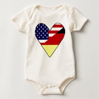 Alemán - americano mamelucos de bebé