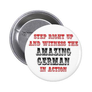 Alemán asombroso en la acción pin redondo 5 cm
