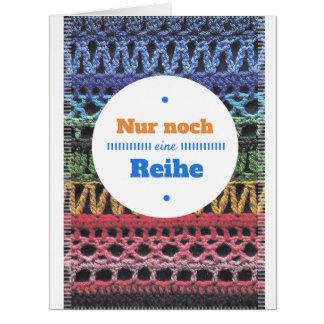 Alemán crocheting de la tarjeta de felicitación