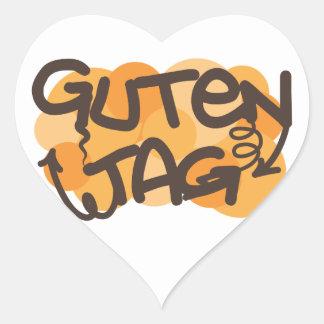 Alemán de la etiqueta de Guten hola en estilo de l