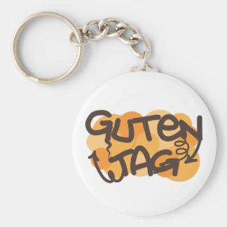 Alemán de la etiqueta de Guten hola en estilo de l Llaveros Personalizados
