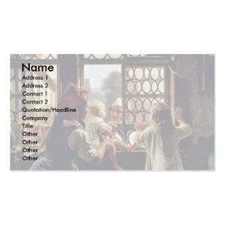 """Alemán, de la """"padre buena mañana """" plantilla de tarjeta de negocio"""