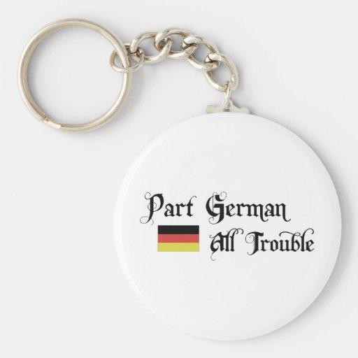 Alemán de la parte todo el problema llavero personalizado