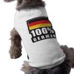 Alemán del 100% camisetas mascota