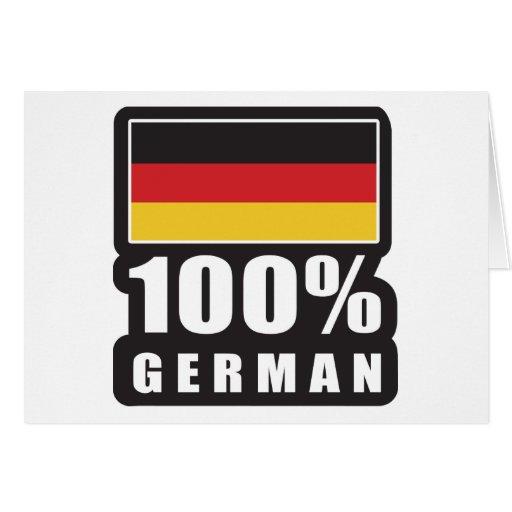 Alemán del 100% tarjeta de felicitación