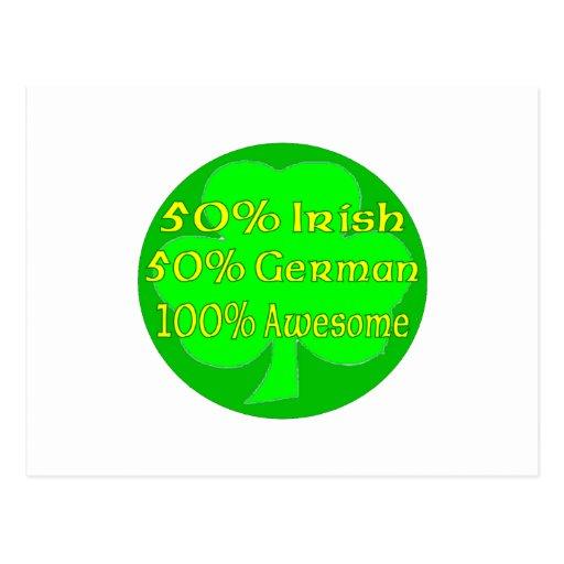 Alemán del irlandés el 50% del 50% el 100% impresi tarjetas postales