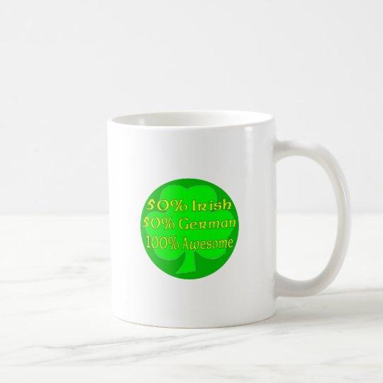 Alemán del irlandés el 50% del 50% el 100% taza de café