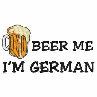"Alemán divertido ""soy cerveza alemana yo"" bordado camiseta polo bordada"