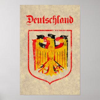 Alemán Eagle artístico Póster