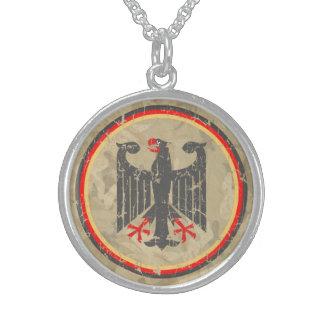 Alemán Eagle Collar De Plata Esterlina
