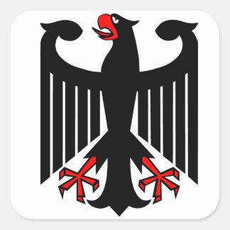 Alemán Eagle Pegatina Cuadrada