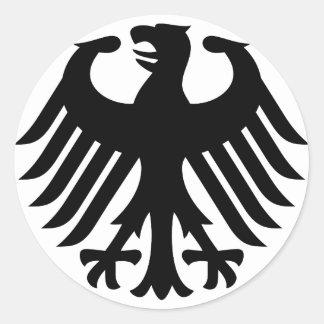 Alemán Eagle Pegatina Redonda
