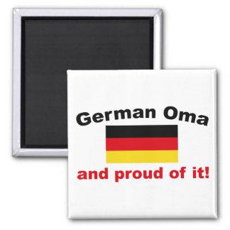 Alemán orgulloso Oma Imán Cuadrado