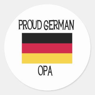 Alemán orgulloso Opa Pegatina Redonda