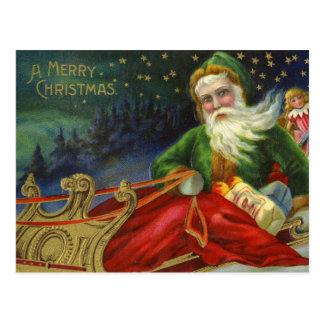 Alemán Papá Noel del vintage Postal