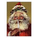 Alemán Santa de la tarjeta de Navidad del vintage