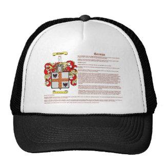 alemán significado gorras