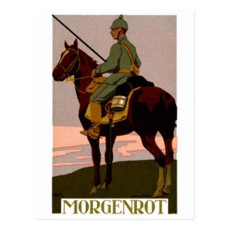 Alemán Uhlan de WWI Postal