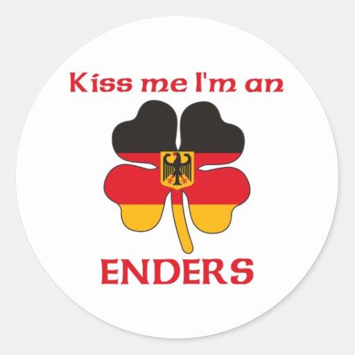 Alemanes personalizada me besan que soy Enders Pegatina Redonda