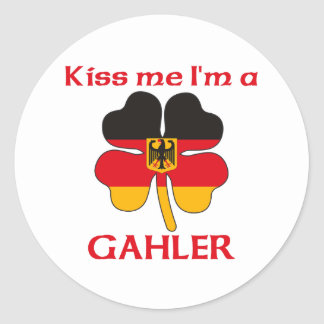 Alemanes personalizada me besan que soy Gahler Pegatinas Redondas