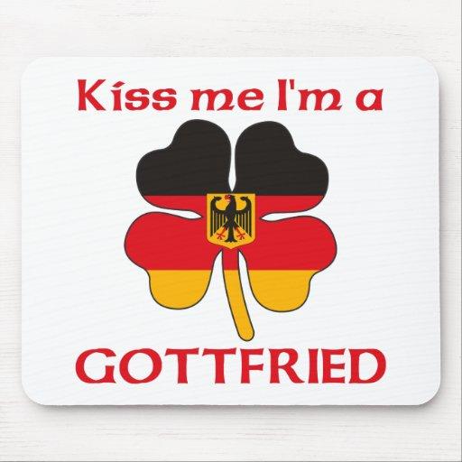 Alemanes personalizada me besan que soy Gottfried Alfombrillas De Raton