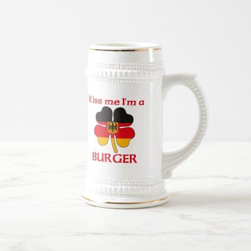 Alemanes personalizada me besan que soy hamburgues taza