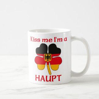 Alemanes personalizada me besan que soy Haupt Taza Básica Blanca