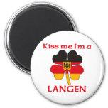 Alemanes personalizada me besan que soy Langen Imán De Frigorífico