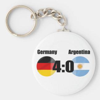 Alemania 4 la Argentina 0 Llavero Redondo Tipo Pin