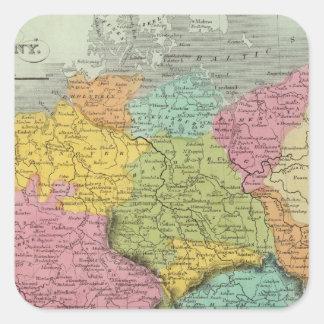 Alemania 5 calcomanía cuadrada