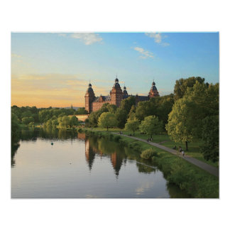 Alemania, Aschaffenburg, Schloss (castillo) Póster
