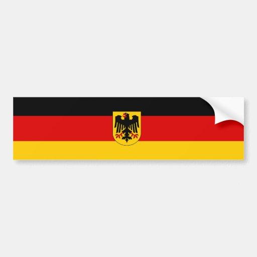 Alemania/bandera alemana pegatina para auto