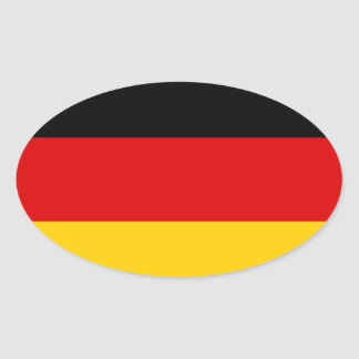 Alemania - bandera nacional alemana pegatina ovalada