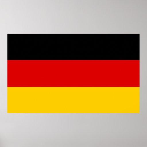 Alemania - bandera nacional alemana póster