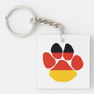 Alemania-bandera paw.png llavero cuadrado acrílico a doble cara
