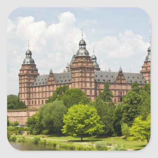 Alemania, Baviera, Baviera, Aschaffenburg. Schloss Pegatina Cuadrada